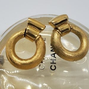 Vintage Givenchy Signed Door Knocker Earrings